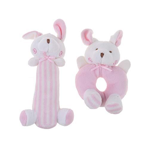 KLOVA sonajero para bebé, juguetes de peluche, regalo para recién nacidos, juguetes para cuna, conejos rosados, conejito, juguetes para recién nacidos