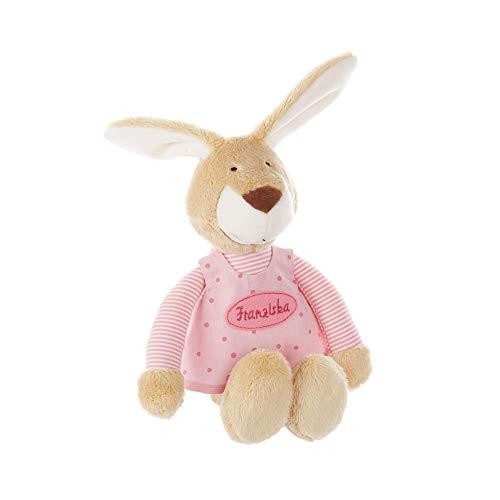 Caja de música para bebé SIGIKID bordada con nombre, melodía deseada seleccionable, conejito, regalo personalizado (rosa)