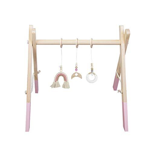 Arco de juego plegable de madera y tela.
