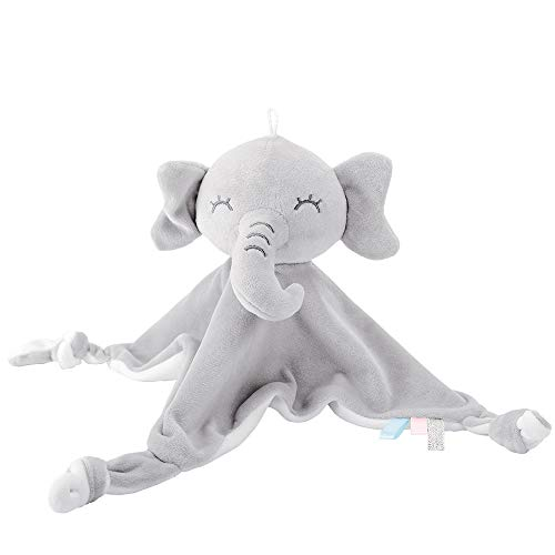Lekebaby edredón bebé elefante edredón para recién nacidos, gris blanco