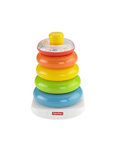 Fisher-Price FHC92 - pirámide de anillos de colores torre de apilamiento colorida juguetes para bebés y juguetes educativos para clasificar y apilar, equipamiento para bebés a partir de los 6 meses