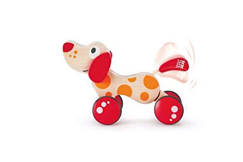 Hape E0347 - Perro de arrastre Pepe, juguete de arrastre, de madera, a partir de los 12 meses