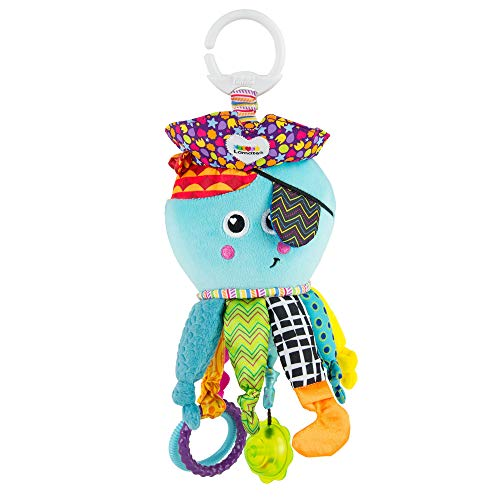 Lamaze juguete para bebé 'Capitán Calamari, el pulpo pirata' Clip & Go, juguete de alta calidad para niños pequeños, que fortalece la relación entre padres e hijos, regalo de Navidad ideal, juguete para bebés, 0-6 meses