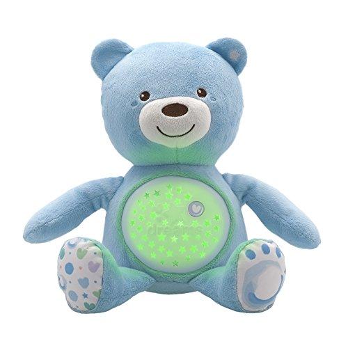 Chicco First Dreams Baby Bear osito de peluche, proyector suave con luz nocturna, efectos de luz y melodías relajantes, azul - juguetes para niños 0+ meses