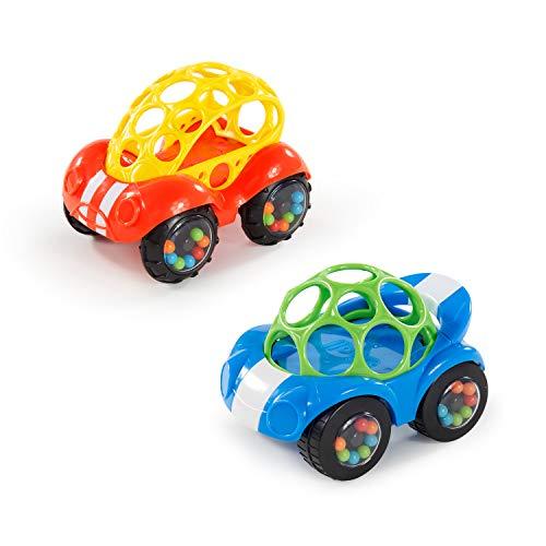 Bright Starts, 81510-12-W11 Oball, coche de juguete con sonajero, 1 pieza, colores surtidos