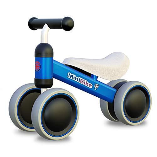 Bicicleta de equilibrio XIAPIA para niños a partir de 1 año |  Andador de juguete con 4 ruedas para bebés de 10 a 24 meses, primer paseo en bicicleta para niños / niñas como regalo