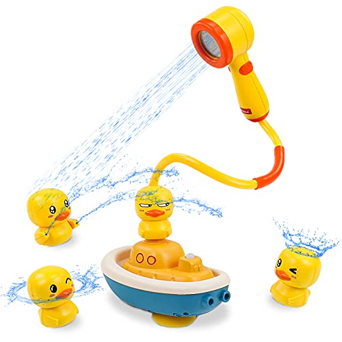Juguetes de baño Juguetes de bebé con 4 patos Juguetes de bañera Juguetes de bebé Juguetes de agua Juguetes de piscina Regalos para niñas Niños Niños 3 4 5 años