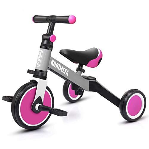KORIMEFA 3 en 1 triciclo para niños bicicletas de equilibrio bicicleta de equilibrio triciclo para niños bicicleta de equilibrio para niños de 1 a 3 años