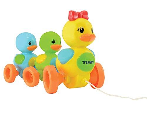 Juguete para bebé TOMY 'familia de patos' con efecto de sonido: juguete de alta calidad con un diseño colorido para gatear y aprender a caminar, motivado para moverse, a partir de los 10 meses para niñas y niños