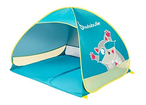 Badabulle B038203 Refugio de playa / tienda de playa para niños y toda la familia, protección UV 50 plus, formato maxi, sistema pop-up, multicolor