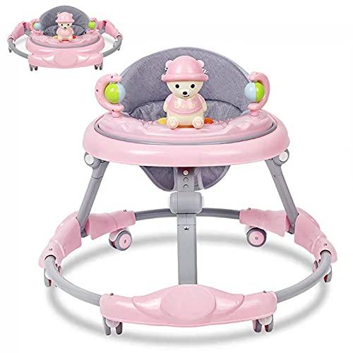Andador para bebés ZHDLJ, andador regulable en altura con centro de juegos y ruedas para bebés a partir de los 6 meses, antivuelco y estable, la mejor herramienta para aprender a caminar