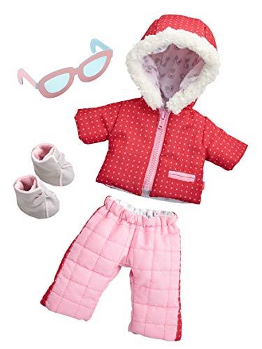 HABA 304110 - Conjunto de ropa de diversión de invierno, conjunto de anorak, pantalón de nieve, gafas de sol y botas, accesorios de muñeca para todas las muñecas HABA de 30 cm, a partir de los 18 meses
