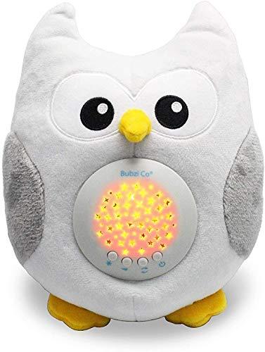 Caja de música, sensor activado por llanto para bebés, juguete de ruido blanco, ayuda para dormir, bebés, máquina de sonido de búho, ayuda para dormir para niños pequeños, luz de noche para bebés, regalo único para bebés, cochecito de juguete