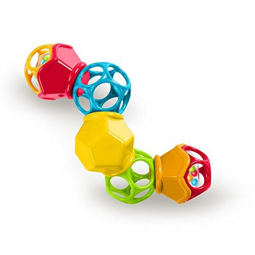 Sonajero Bright Starts, Oball, Clicky Twister, fácil de agarrar, para girar, hacer clic y traquetear, a partir de los 3 meses