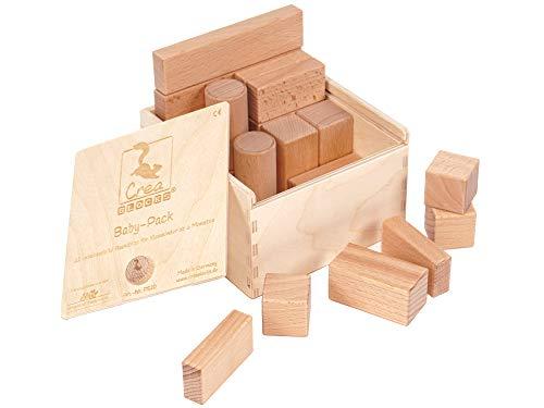 Bloques de construcción de madera Baby-Pack bloques de construcción sin tratar para niños pequeños a partir de 6 meses Made in Germany