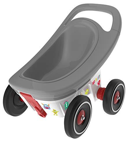 BIG - Buggy - Remolque multifuncional 3 en 1, andador para bebés con función de frenado ajustable, que incluye 4 ruedas susurrantes, remolque Bobby Car, para niños a partir de 1 año