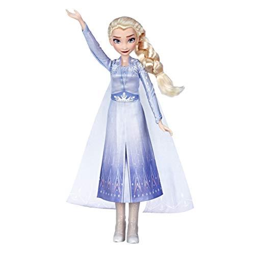 Hasbro E6852GC0 Disney Frozen Singing Elsa muñeca con música en un vestido azul para Disney Frozen 2, juguetes para niños a partir de 3 años