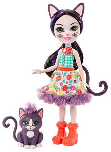 Enchantimals GJX40 - Muñeca Ciesta Cat y figura de amante de los animales Escalador, juguetes para mayores de 4 años