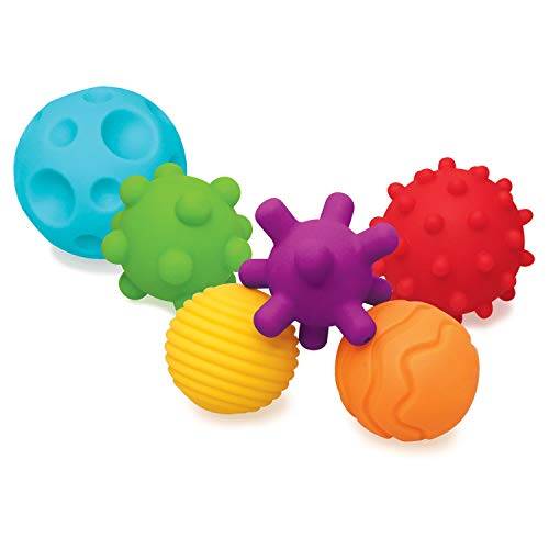 Infantino Textured Multi Ball Set - Bolas texturizadas en un juego para el desarrollo sensorial - Para niños a partir de 6 meses