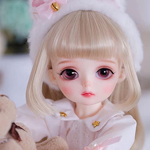 CPL linda muñeca 1/6 BJD muñeca 10.2 pulgadas 26 cm juguete princesa muñeca con juego completo de vestido de encaje, zapatos, peluca y maquillaje, niños