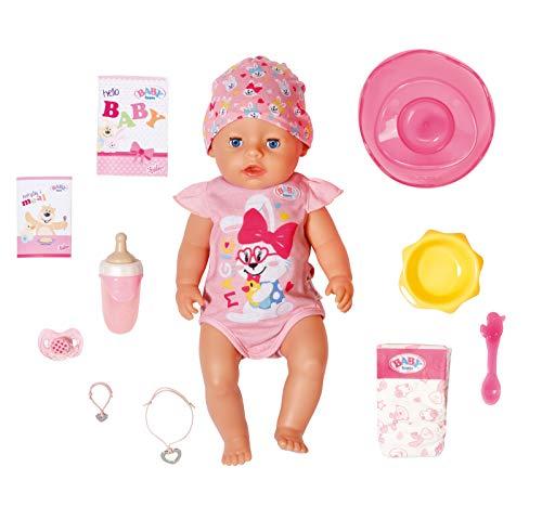 Zapf Creation 827956 BABY born Magic Girl 43 cm - nuevo con chupete mágico y 10 funciones realistas