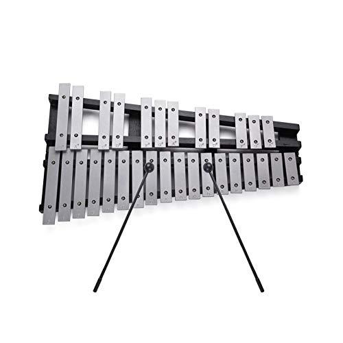 Xilófono de carillón plegable ammoon, 30 notas, percusión educativa, instrumento musical, marco de madera, varillas de aluminio con estuche de transporte