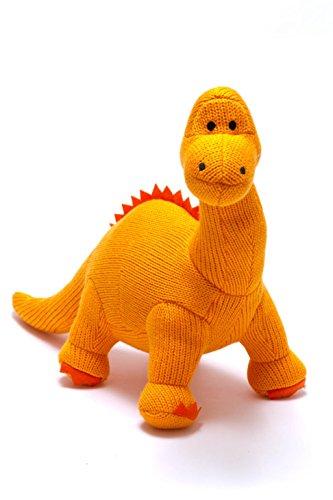 Sonajero Best Years para bebés, Diplodokus, dinosaurios, tejido, pequeño, naranja Apto desde el nacimiento