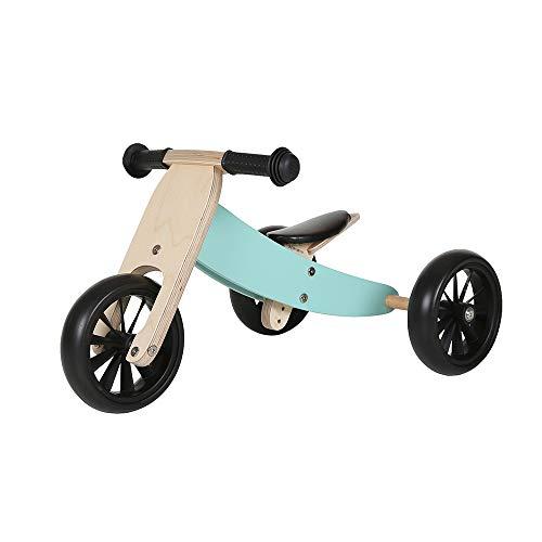 Bandits & Angels andador / bicicleta de equilibrio de madera bicicleta inteligente 4 en 1 a partir de 1 año (menta)