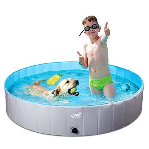 Piscina para perros Toozey para perros grandes y pequeños, piscinas para perros plegables de 80 cm / 120 cm / 160 cm, piscina infantil para niños y perros, bañera para perros, 100% segura y respetuosa con el medio ambiente, 1 año de garantía