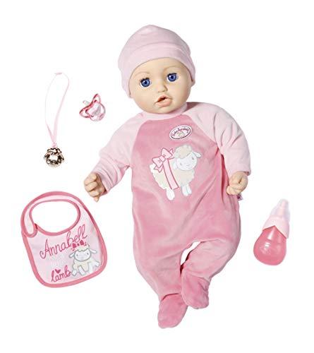Zapf Creation 702475 Baby Annabell muñeca Annabell con funciones y accesorios realistas 43 cm, rosa, empaque en línea