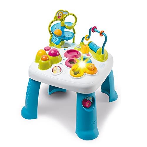 Smoby 110426 Table d'Activités Cotoons Mesa de juego de actividades, bebé, juguetes de motricidad, carrera de canicas, juego enchufable, para niños a partir de 12 meses, multicolor