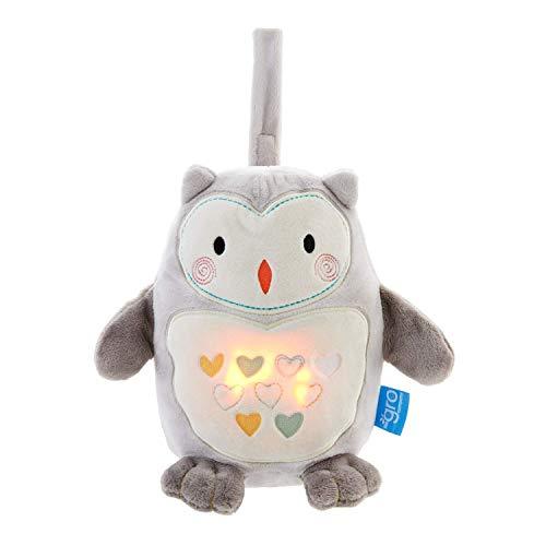 Ayuda para dormir Gro Grofriend para bebés, caja de música de felpa y luz nocturna, Ollie el búho