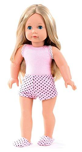 Götz 1490365 muñeca Precious Day Girls Jessica Girl to Dress - muñeca de pie de 46 cm de altura, cabello largo rubio, ojos azules soñolientos - juego de 4 piezas