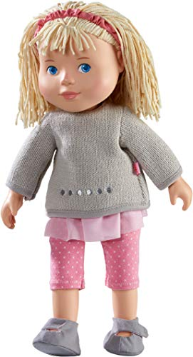 HABA 304889 - Muñeca de juguete Elisa, muñeca suave con cabeza y extremidades de vinilo, 32 cm, juguetes a partir de 3 años