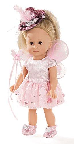 Götz 1613027 Just Like me - Paula the fairy doll - Muñeca de pie de 27 cm de altura con cabello rubio y ojos marrones para dormir - para niños a partir de 3 años