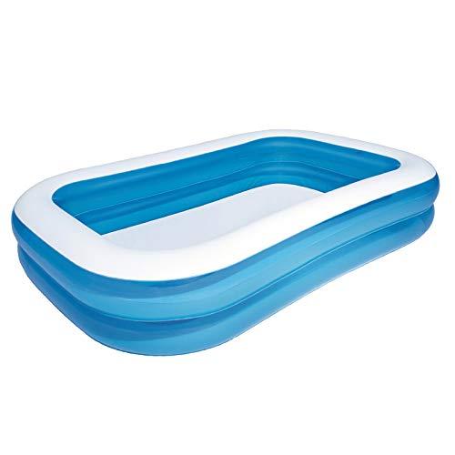 Piscina familiar azul / blanca, piscina