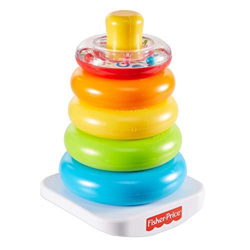 Fisher-Price GKD51 - Pirámide de anillos de colores, juguete apilable clásico con anillos para bebés y niños pequeños a partir de 6 meses