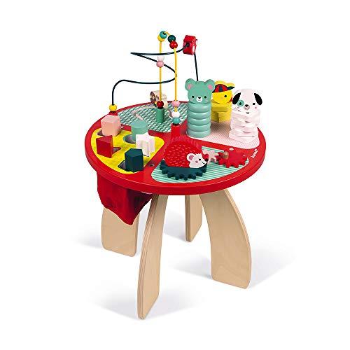 Mesa de juego de madera para apilar, construir y agarrar