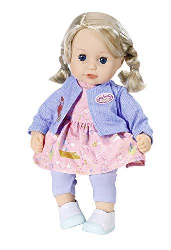 Zapf Creation 702970 Baby Annabell Little Sophia muñeca con cabello y ojos dormidos, 36 cm