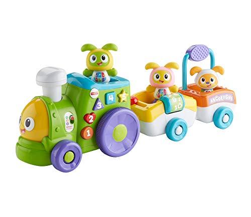 Fisher-Price FXH94: divertido tren BeatBo, juguetes educativos con niveles crecientes, canciones y oraciones, juguetes a partir de los 6 meses, en alemán