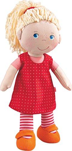 HABA 302108 - Muñeca Annelie, muñeca de trapo con ropa y pelo, 30 cm, juguetes a partir de los 18 meses