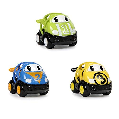 Arranques brillantes, Oball, Go Grippers, coches de carreras de juguete