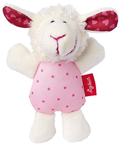 sigikid, niña, juguete de agarre y oveja sonajero, blanco / rosa, 41189