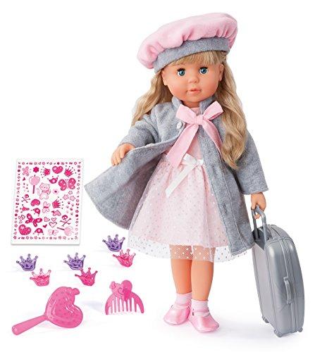 Bayer Design 94635AX Muñeca funcional Charlene con pelo y ojos dormidos: habla y canta 90 frases, 2 poemas y 8 canciones, 46cm, rosa, gris