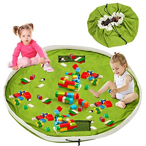 Saco de almacenamiento para bebés, saco de juguetes, almacenamiento de juguetes xxl, saco de juegos para niños saco de algodón, saco para juguetes grande, limpieza más rápida, almohadilla para alfombra 150 cm