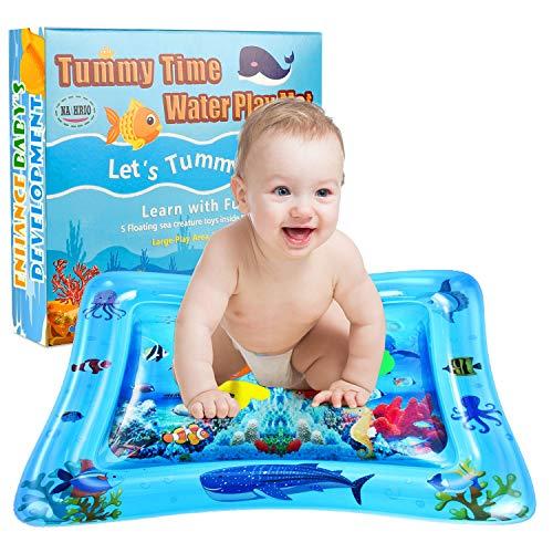 NASHRIO tapete de agua para bebés, tapete para juegos de agua para bebés de 3 6 9 meses, el juguete divertido perfecto para centros de actividades para el desarrollo temprano de bebés, promueve la estimulación visual