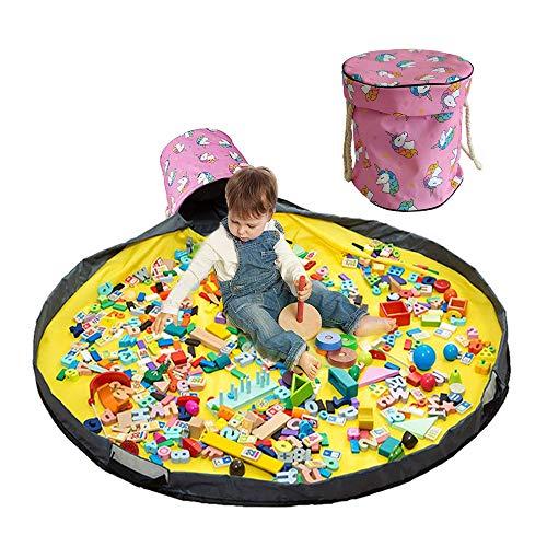Bolsa de almacenamiento para niños Bolsa de almacenamiento Manta de juego Bolsa de almacenamiento Cesta de almacenamiento de juguetes Bolsa de almacenamiento de juguetes al aire libre Almacenamiento de juguetes con tapa
