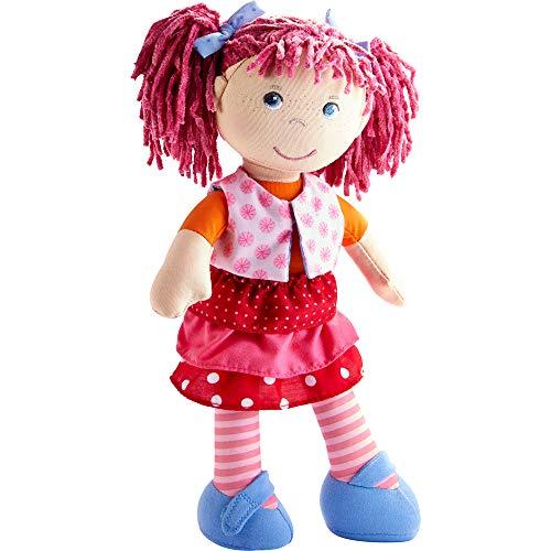 Haba 302842 - Muñeca Lilli-Lou, linda muñeca suave y de trapo de 18 meses, con ropa y pelo, 30 cm