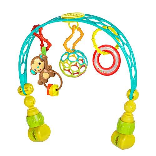 Bright Starts, Oball, arco de juego para el cochecito hecho de material Oball flexible y sólido para un fácil agarre