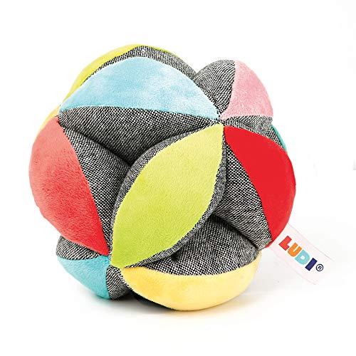 LUDI agarra la pelota aprende a rodar, lanzar y atrapar la pelota |  De tejido suave y lavable |  A partir de 6 meses